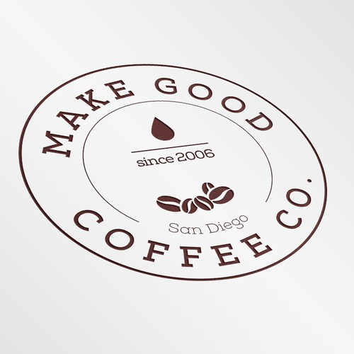 Roast design with the title 'Logo for new San Diego coffee roastery'