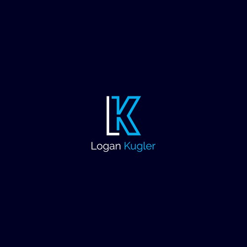 L logo with the title 'Logo concept for Logan Kugler'