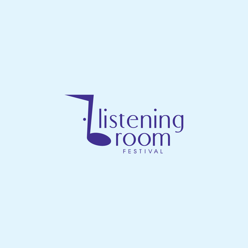 Music brand with the title 'Logo Design for Listening Room Festival'