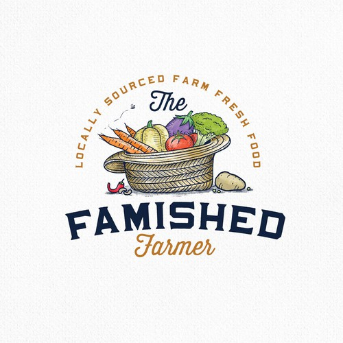 Countryside logo with the title 'The Famished Farmer'