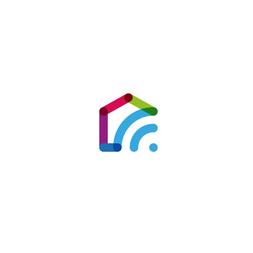 Multicolor design with the title 'Logo Concept for Smart Home Solutions'