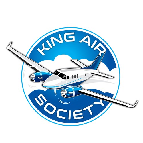 Airplane logo with the title 'King Air Society'