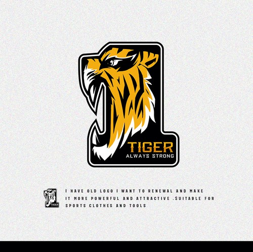 Sports design with the title 'Sports Logo for Tiger Always Strong'