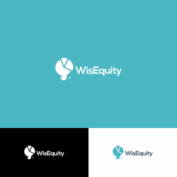 Pie chart design with the title 'WisEquity Logo'