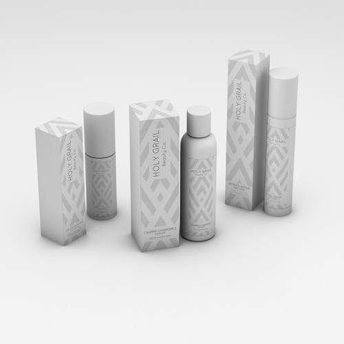 Elegant packaging with the title 'Cosmetic/Skin care product family'
