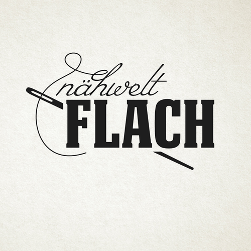 Sewing logo with the title 'Naehwelt Flach'