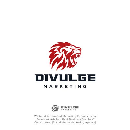 Roar design with the title 'Divulge marketing'