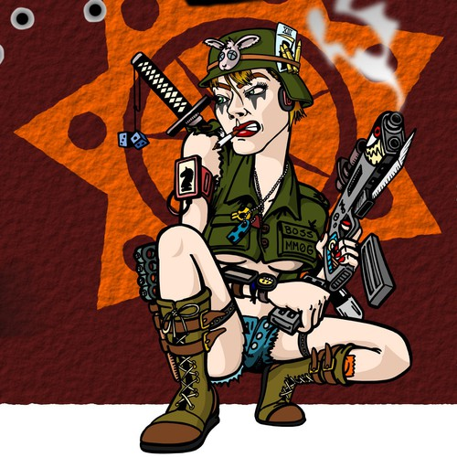 Soldier design with the title 'Print for Gamer's PC tower CPU.'
