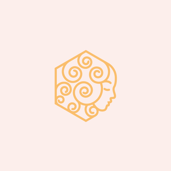Face logo with the title 'Modern line art logo concept done for a honey brand'