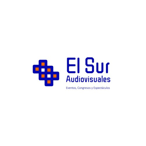 AV logo with the title 'Logo for El Sur Audiovisuales'