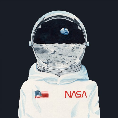 Moon artwork with the title 'Astronaut '