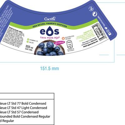 Label design for EOS Brand