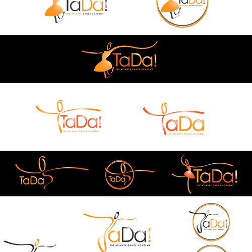 Ballerina logo with the title 'TADA'