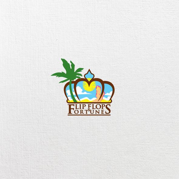 Flip logo with the title 'Flip Flop Logo'