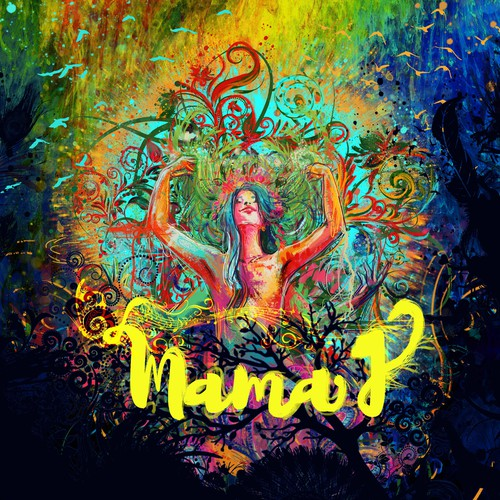 Cover illustration with the title 'Stage Backdrop for Sensational Recording Artist - Mama J'