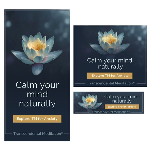 Autism design with the title 'Meditation Banner Ad'