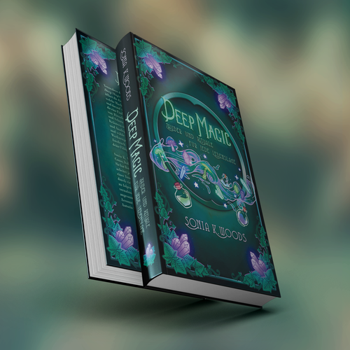 Dark fantasy book cover with the title 'Deep Magic Cover design'