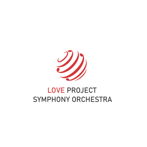 Orchestra logo with the title 'Logo for Love Project Symphony Orchestra'