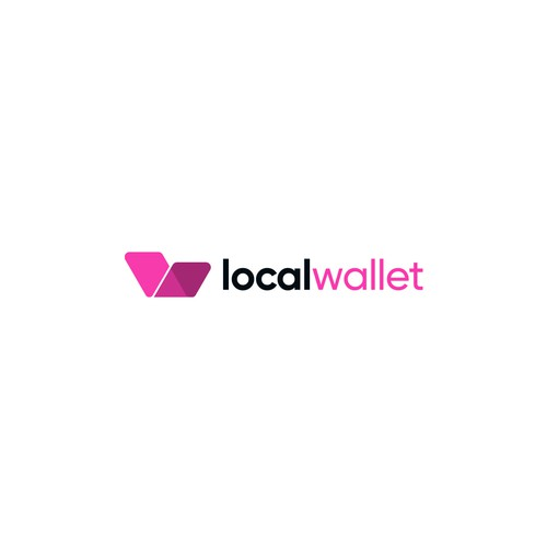 Wallet logo with the title 'Logo Design for Local Wallet'