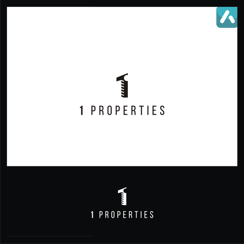 Property management logo with the title '1 properties'