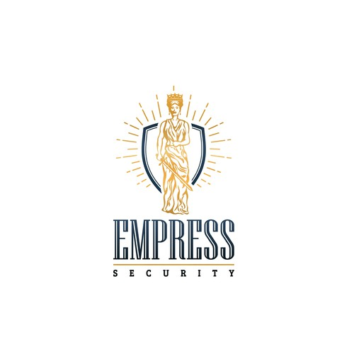 Female warrior design with the title 'Regal Empress logo for new company'
