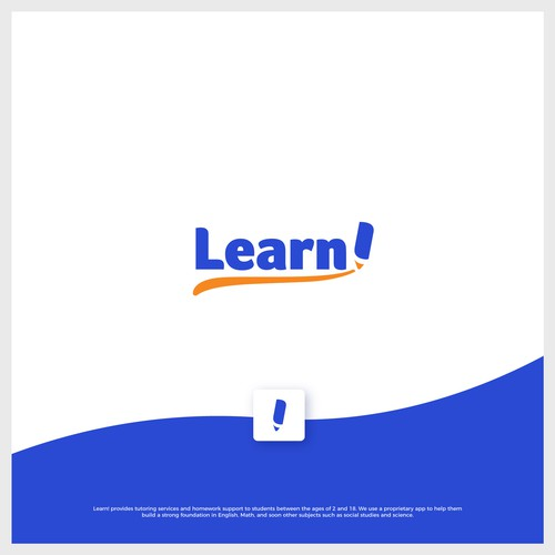 Student brand with the title 'Learn Mobile App Logo'