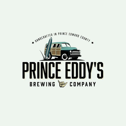 Beer brand with the title 'Logo for a craft brewery in Prince Edward County, Ontario.'