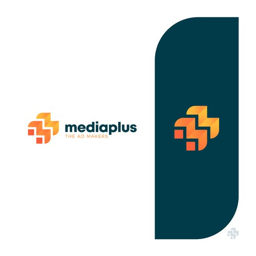 Commercial design with the title 'Media Plus'