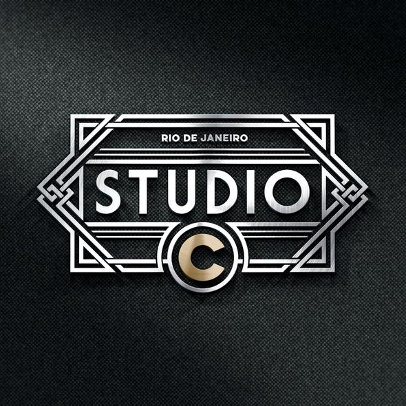 Radio station design with the title 'Studio C'