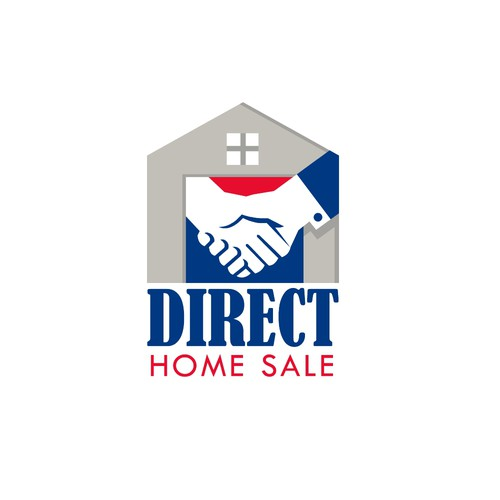 Real estate logo with the title 'Direct Home Sale'