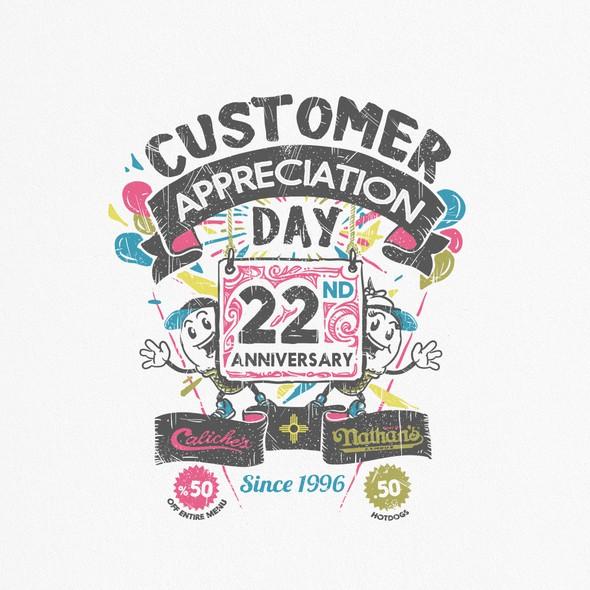 Ice cream t-shirt with the title 'Caliche's Frozen Custard's Customer Appreciation Day Shirt'