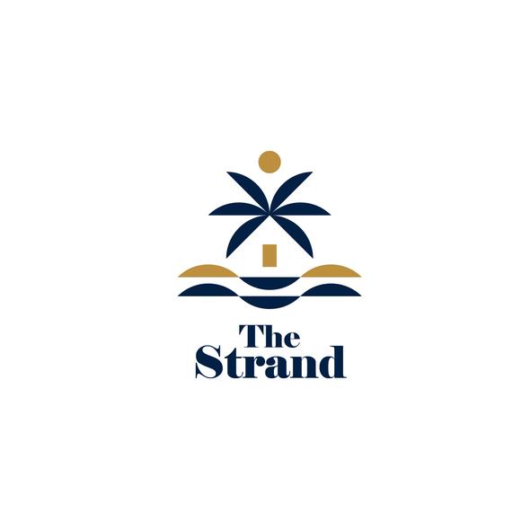 Beach design with the title 'Simplistic geometric logo'