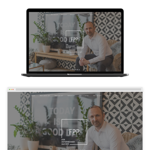 Coach design with the title 'Coach and speaker website'