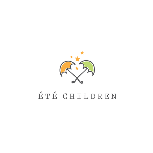 Kid's clothing logo with the title 'Logo concept for kids chlotes'