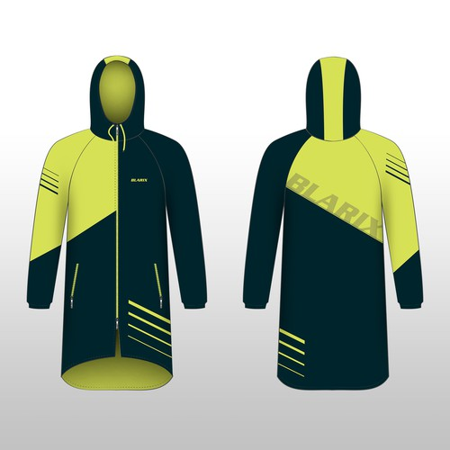 Swim design with the title 'Blarix Swim Parka'