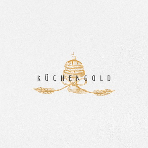 Delicate logo with the title 'Hand drawn logo concept for kuchengold'
