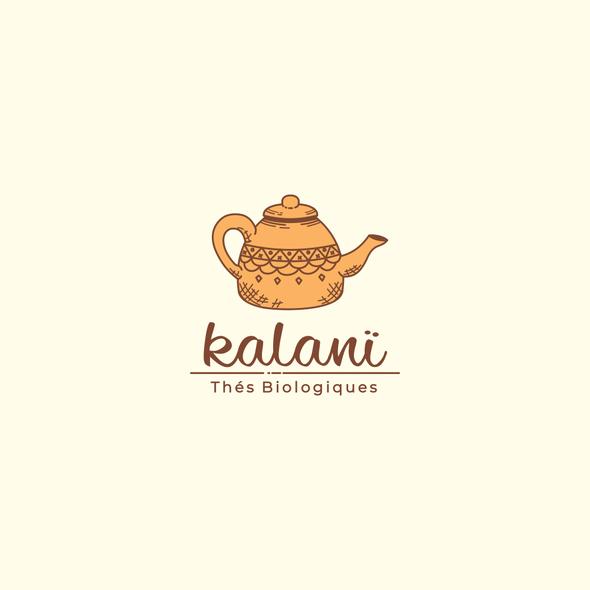 Teapot logo with the title 'Logo Concept for Kalani'