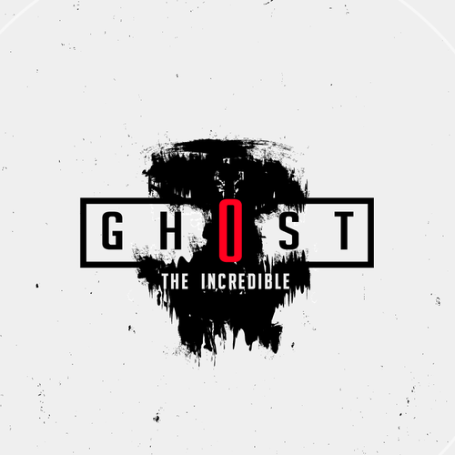Horror logo with the title 'Ghost in the night'