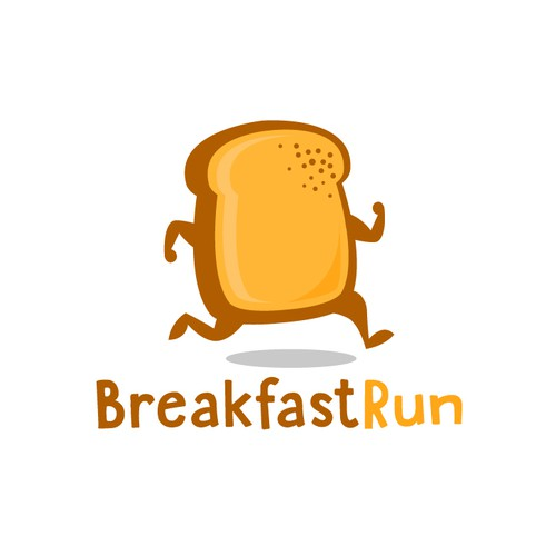 Breakfast design with the title 'BreakfastRun'