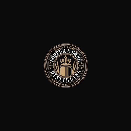 Classy logo with the title 'Copper and Cane logo design'