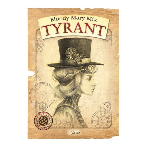 Hat design with the title 'Label for original bloody mary mix'