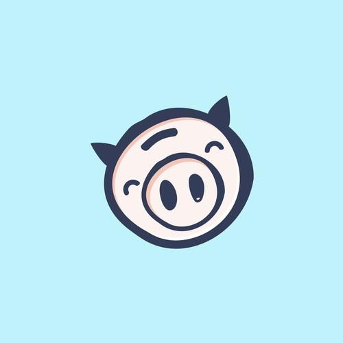 Farm animal logo with the title 'piggypay'