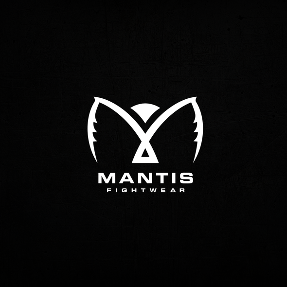 Mantis design with the title 'Fighting Mantis Logo for Fighting Brand'