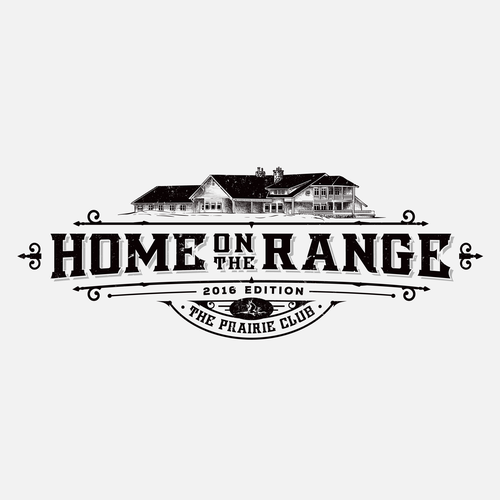 Classy design with the title 'HOME ON THE RANGE Magazine Cover'