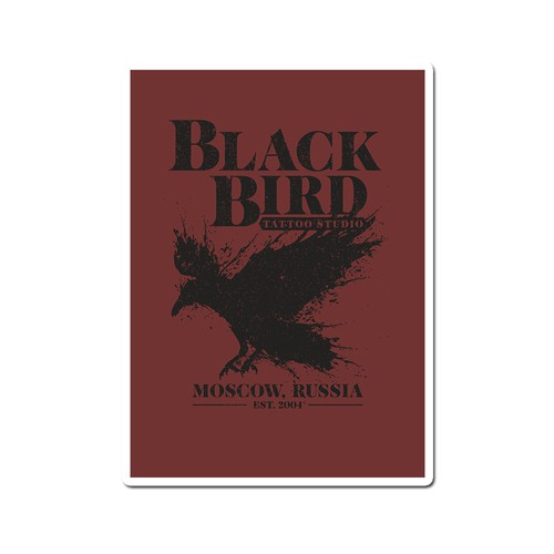 Tattoo t-shirt with the title 'Black Bird'
