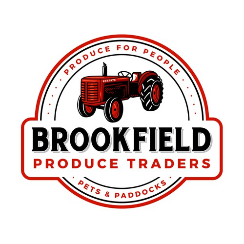 Hand-drawn logo with the title 'Brookfield Produce Traders'