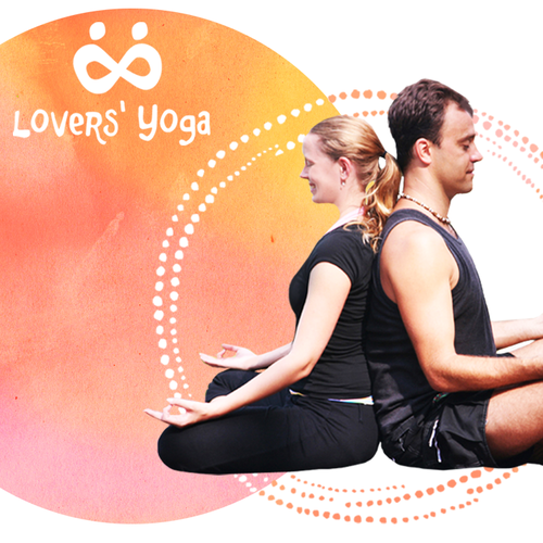 Colorful website with the title 'Lovers' Yoga'