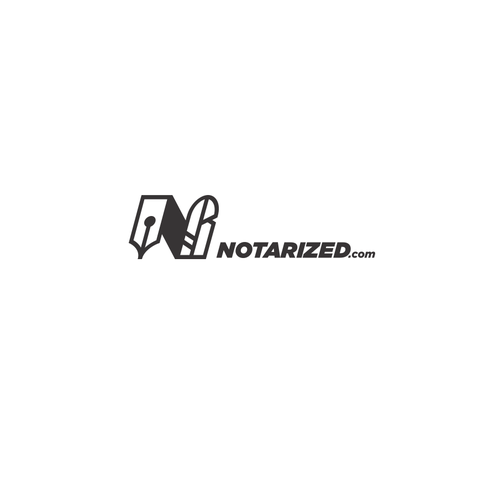 Pen brand with the title 'Notarized.com logo'