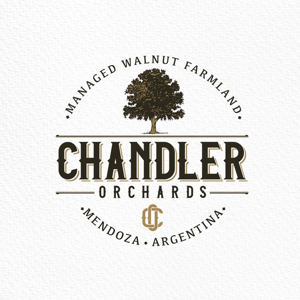 Argentina design with the title 'Logo design for Chandler Orchards.'