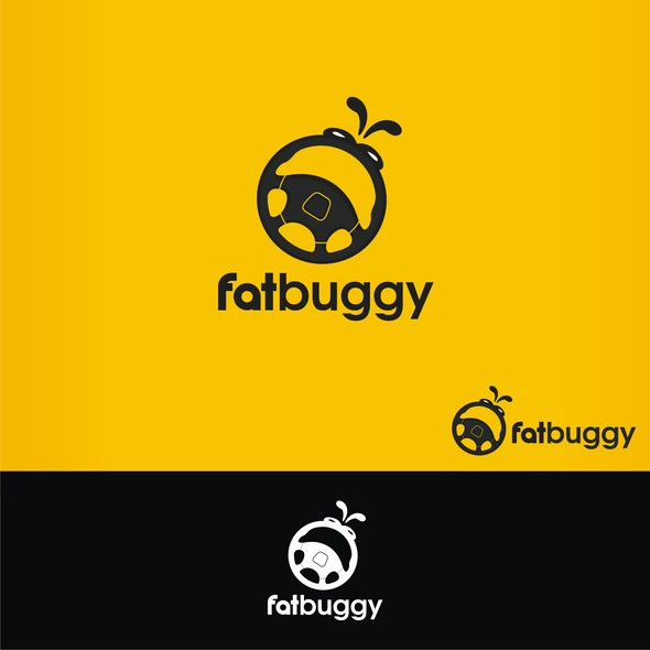 Car rental logo with the title 'fat Buggy'
